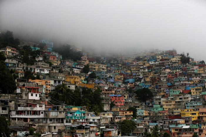 A general view as Hurricane Matthew approaches Port-au-Prince, Haiti, October 3, 2016. REUTERS