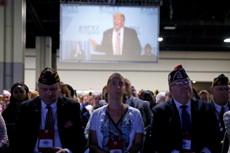 Trump defends remarks on veterans and mental health