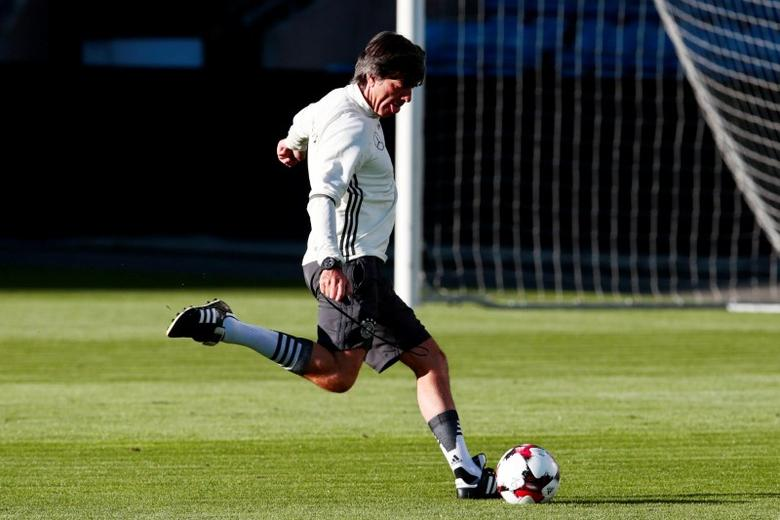 Football Soccer - Germany's training - World Cup 2018 Qualifiers - Ullevaal Stadium, Oslo, Norway - 3/9/16. Germany's national soccer team coach Joachim Loew during training.NTB Scanpix/Hakon Mosvold Larsen/via REUTERS