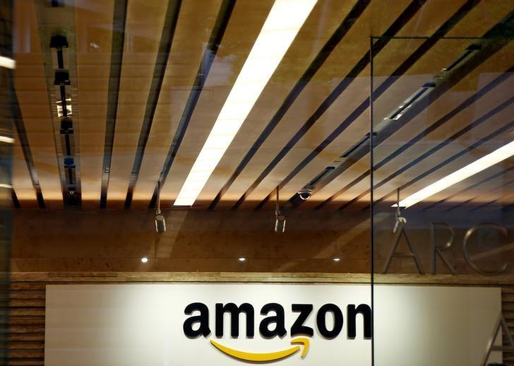 Amazon.com's logo is seen at Amazon Japan's office building in Tokyo, Japan, August 8, 2016. REUTERS/Kim Kyung-Hoon/Files