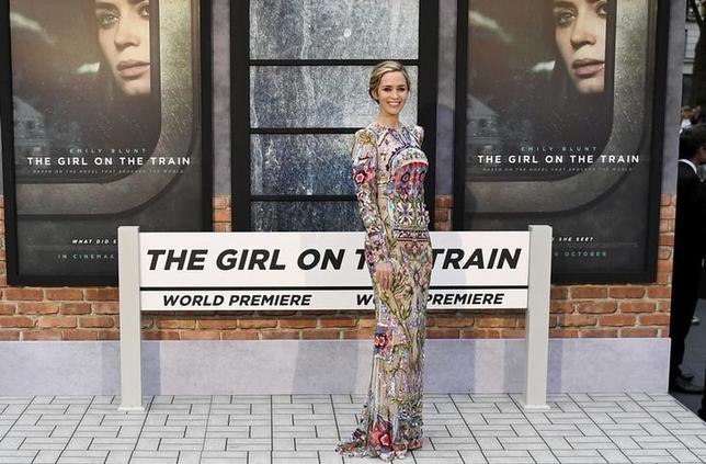 FILE PHOTO --  Emily Blunt poses as she arrives at the World premiere of ''The Girl on the Train'' at Leicester Square in London, Britain September 20, 2016. REUTERS/Dylan Martinez/File Photo
