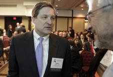 """Jeffrey Lacker, president of the Federal Reserve Bank of Richmond, arrives at a session """"Help or Harm: Central Bank Monetary Policies at the Outer Limits"""" during NABE Economic Policy Conference in Washington March 5, 2013. REUTERS/Yuri Gripas"""