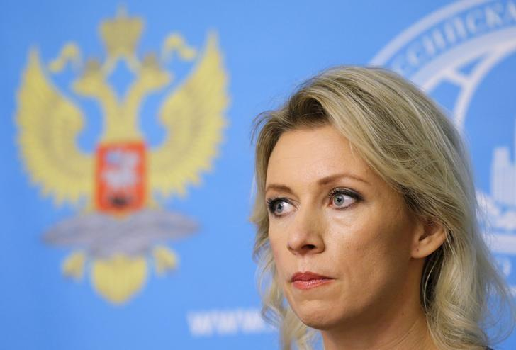Spokeswoman of the Russian Foreign Ministry Maria Zakharova attends a news briefing in Moscow, Russia, October 6, 2015.  REUTERS/Maxim Shemetov
