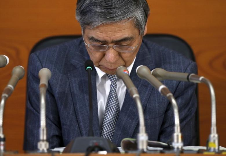 Bank of Japan (BOJ) Governor Haruhiko Kuroda attends a news conference at the BOJ headquarters in Tokyo, Japan, March 15, 2016. REUTERS/Toru Hanai