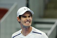 Tennis - China Open men's singles semifinal - Beijing, China - 08/10/16. Britain's Andy Murray reacts during his match against David Ferrer of Spain. REUTERS/Thomas Peter