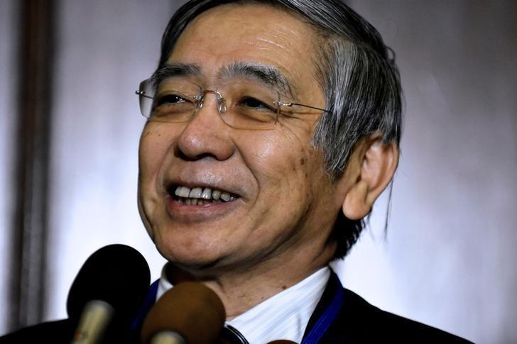 图为日本央行总裁黑田东彦。REUTERS/James Lawler Duggan