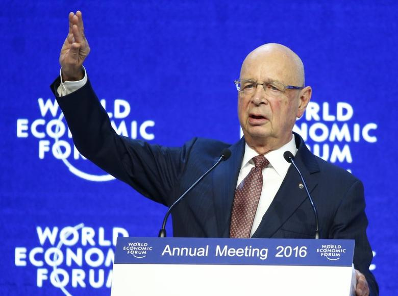 File photograph of WEF Executive Chairman and founder Klaus Schwab addressing attendees during the official opening session of the Annual Meeting 2016 of the World Economic Forum (WEF) in Davos, Switzerland January 20, 2016. REUTERS/Ruben Sprich