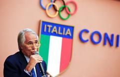 Presidente do Comitê Olímpico da Itália, Giovanni Malago, durante evento em Roma.    11/10/2016          REUTERS/Tony Gentile