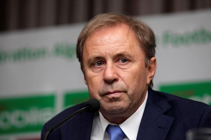 Serbian Milovan Rajevac, coach of Algeria's national football team, attends a news conference at the Mohamed-Boudiaf Olympic Stadium in Algiers, Algeria July 14, 2016. REUTERS/Ramzi Boudina/Files