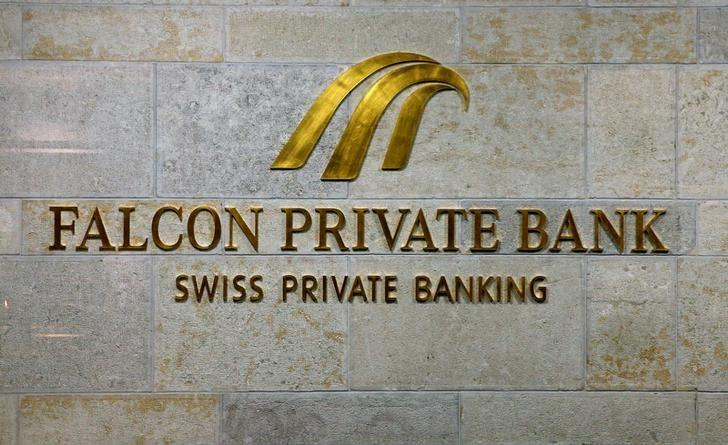 The logo of Swiss Falcon Private Bank, owned by Abu Dhabi's International Petroleum Investment Co (IPIC), is seen at its headquarters in Zurich, Switzerland September 22, 2016. REUTERS/Arnd Wiegmann/Files