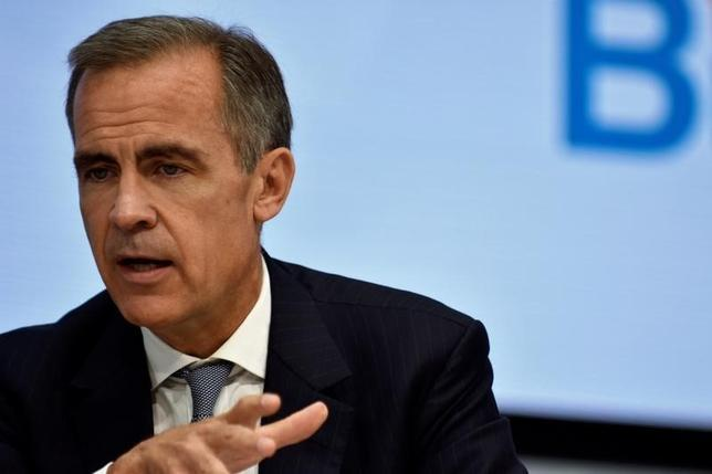 Bank of England Governor Mark Carney speaks during a panel discussion at the annual meetings of the IMF and World Bank Group in Washington, October 6, 2016. REUTERS/James Lawler Duggan