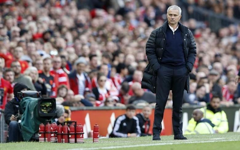 Britain Soccer Football - Manchester United v Stoke City - Premier League - Old Trafford - 2/10/16Manchester United manager Jose Mourinho Action Images via Reuters / Carl RecineLivepic