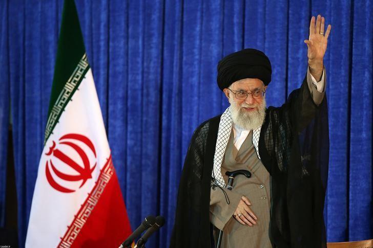 Iran's Supreme Leader Ayatollah Ali Khamenei waves as he gives a speech on Iran's late leader Khomeini's death anniversary, in Tehran, Iran June 3, 2016. Leader.ir/Handout via REUTERS/Files
