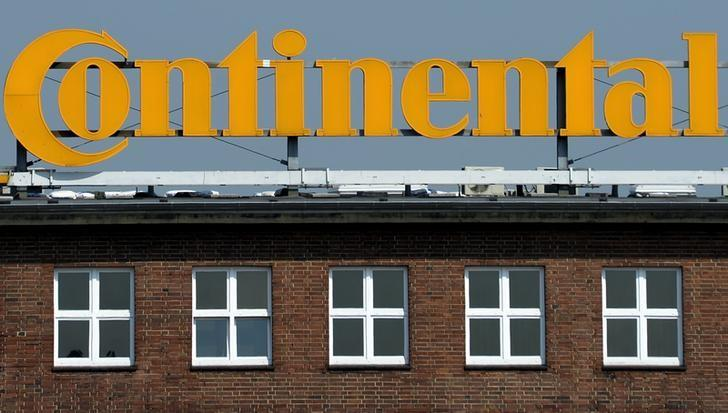 Logo of German tyre company Continental is pictured at the headquarters in Hanover, Germany, April 25, 2014.  REUTERS/Fabian Bimmer/File Photo