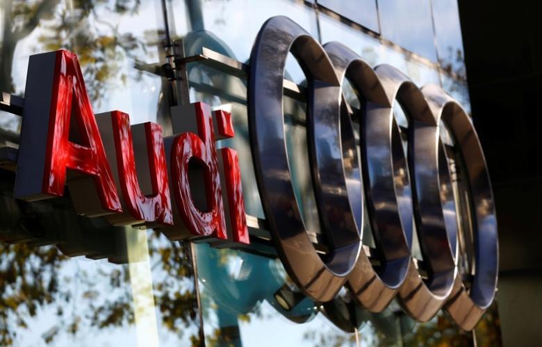 The logo of German car maker Audi is seen outside a garage in Vienna, Austria, September 29, 2016.   REUTERS/Leonhard Foeger