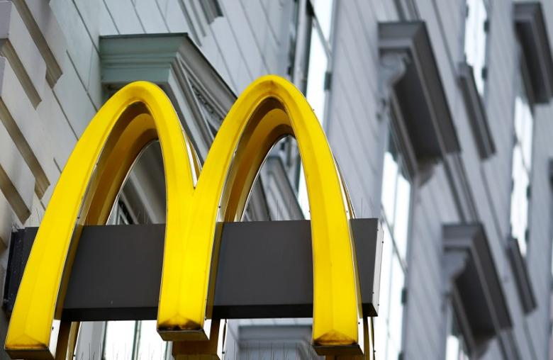 The logo of McDonalds is seen outside a shop in Vienna in Vienna, Austria, October 1, 2016.  REUTERS/Leonhard Foeger