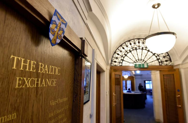 A wooden plaque is seen on a wall at The Baltic Exchange in the City of London, Britain March 2, 2016. REUTERS/Toby Melville/File Photo