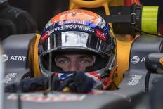 Oct 21, 2016; Austin, TX, USA; Red Bull Racing driver Max Verstappen (33) of Netherlands during practice for the United States Grand Prix at the Circuit of the Americas. Mandatory Credit: Jerome Miron-USA TODAY Sports