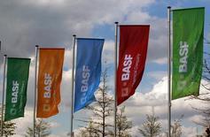 BASF a publié jeudi des résultats détaillés montrant que ses activités pétrolières et agrochimiques ont largement dépassé les attentes au troisième trimestre.  /Photo d'archives/REUTERS/Ina Fassbender