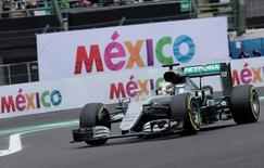 Formula One - F1 - Mexican F1 Grand Prix - Mexico City, Mexico - 28/10/16 - Mercedes' Lewis Hamilton of Britain during the second practice session. REUTERS/Henry Romero
