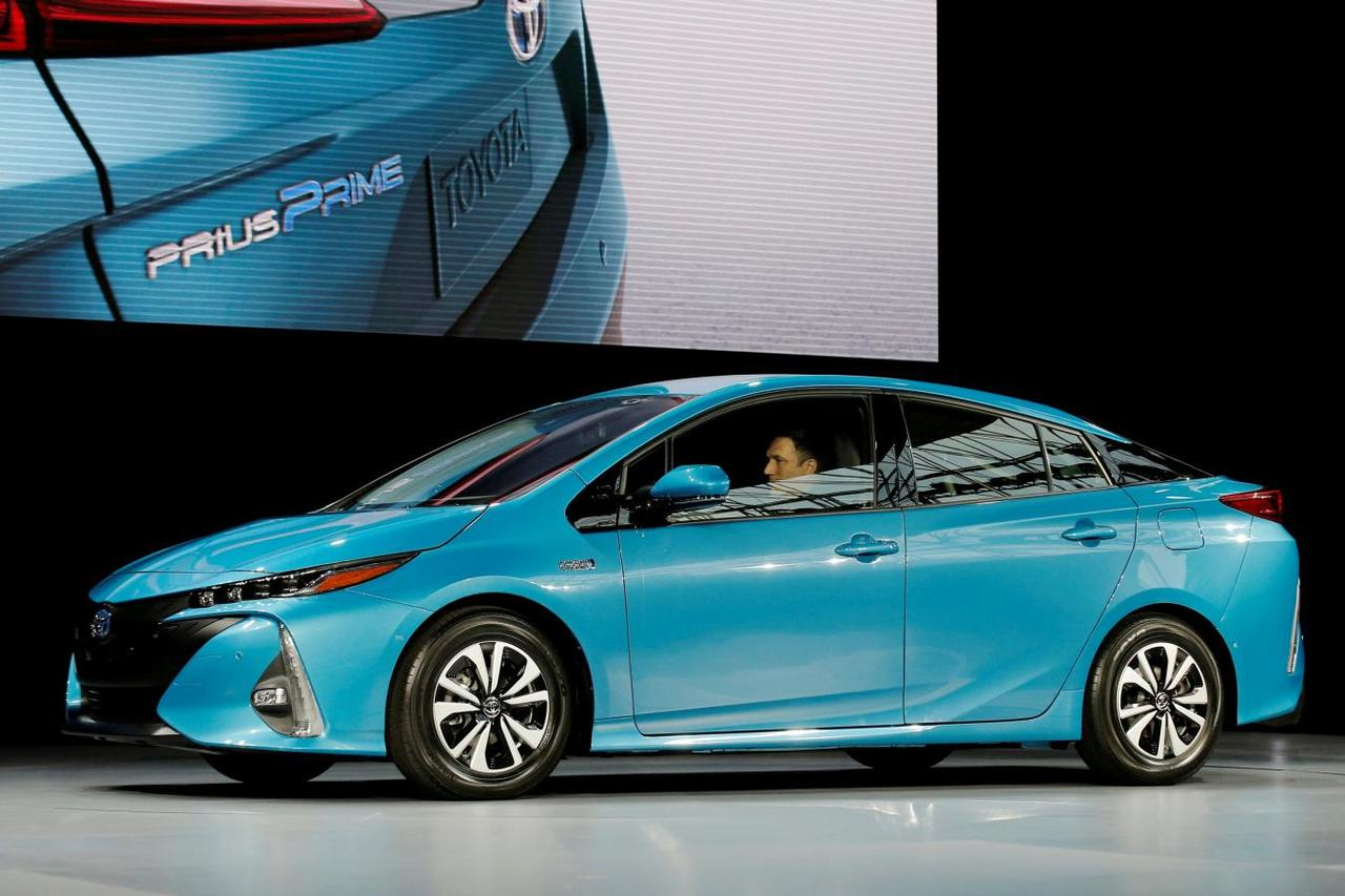 A Toyota Prius Prime Is Seen During The Media Preview Of 2016 New York International Auto Show In Manhattan U S March 23