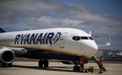 La compagnie à bas coûts irlandaise Ryanair va annoncer mercredi son intention de lancer des liaisons au départ de l'aéroport de Francfort. /Photo d'archives/REUTERS/Rafael Marchante