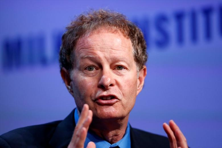John Mackey, Co-Founder and Co-CEO of Whole Foods Market, speaks at the Milken Institute Global Conference in Beverly Hills, California,