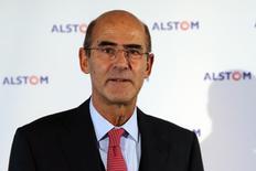 Patrick Kron, ancien PDG d'Alstom, a pris mardi la présidence de Truffle Capital pour accélérer le développement de la société de capital risque et en diversifier la base de clientèle et d'investisseurs. /Photo d'archives/REUTERS/Philippe Wojazer