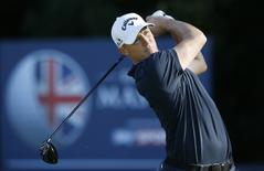 Britain Golf - British Masters - The Grove, Hertfordshire - 16/10/16 Sweden's Alex Noren in action during the final round Action Images via Reuters / Paul Childs Livepic EDITORIAL USE ONLY.