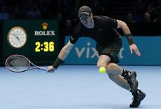 Britain Tennis - Barclays ATP World Tour Finals - O2 Arena, London - 16/11/16 Great Britain's Andy Murray in action during his round robin match against Japan's Kei Nishikori  Action Images via Reuters / Paul Childs Livepic