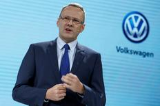 Stephan Wollenstein, Executive Vice President of Volkswagen Group China, attends a news conference in Guangzhou, China November 17, 2016.      REUTERS/Bobby Yip