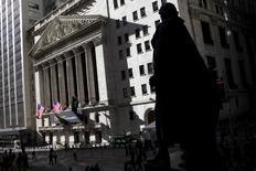 La Bourse de New York a ouvert sur une note presque stable. Dans les premiers échanges, le Dow Jones perd 0,13%, le S&P-500 est stable (-0,04%), le Nasdaq Composite prend 0,11%. /Photo d'archives/REUTERS/Mike Segar