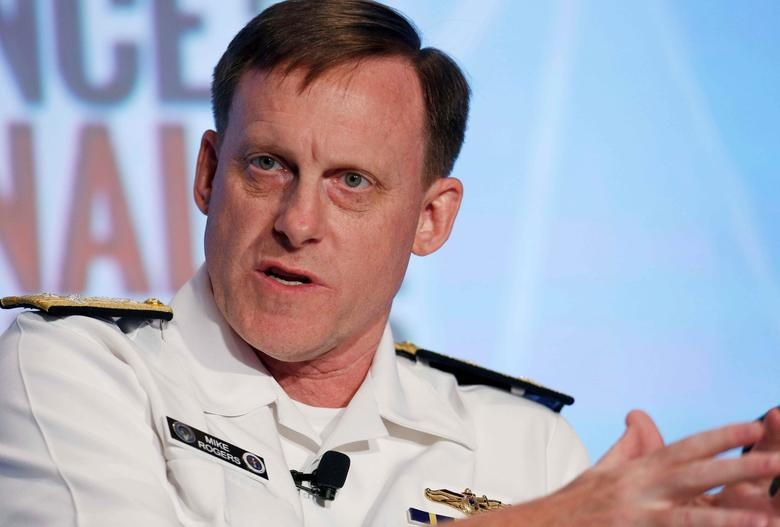 National Security Agency (NSA) Director Admiral Michael Rogers participates in a session at the third annual Intelligence and National Security Summit in Washington, U.S., September 8, 2016. REUTERS/Gary Cameron/File Photo