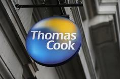 Le voyagiste britannique Thomas Cook s'est dit mercredi en bonne voie de dégager de la croissance sur l'exercice en cours, ayant fait état d'un bon démarrage de ses réservations estivales. Les réservations pour l'été prochain sont en progression sur tous ses marchés.  /Photo d'archives/REUTERS/Suzanne Plunkett