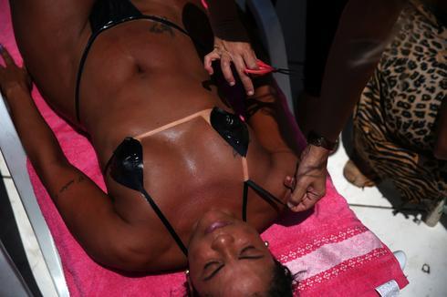 Itsy bitsy masking tape bikini