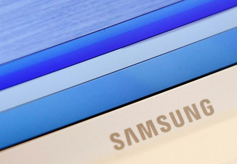 Samsung's logo is seen on a laptop computer displayed in Seoul, South Korea July 6, 2012. REUTERS/Lee Jae-Won/File Photo