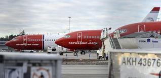 La Commission européenne a officiellement déposé une demande d'arbitrage concernant un litige avec les Etats-Unis autour de la compagnie à bas coûts Norwegian Air. /Photo d'archives/REUTERS/Johan Nilsson