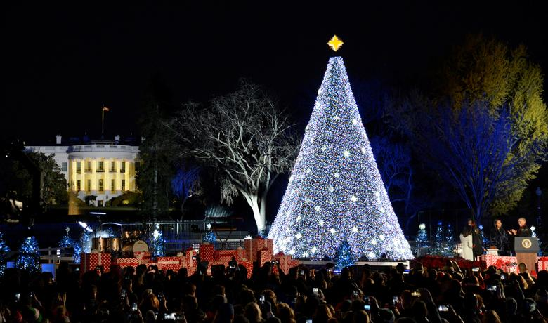 National Christmas Tree Lighting.Lighting The National Christmas Tree Reuters Com