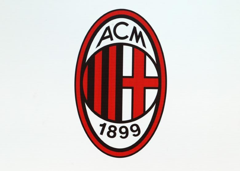 AC Milan logo is seen at the San Siro stadium during the match against Udinese in Milan, September 10, 2016. REUTERS/Stefano Rellandini