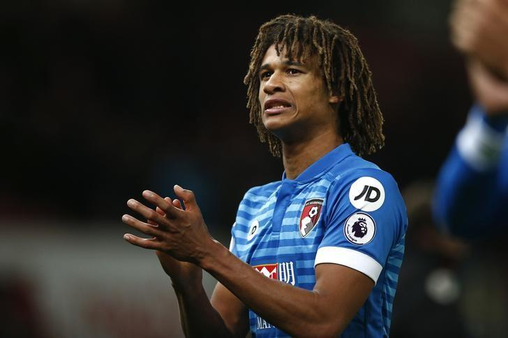 Britain Football Soccer - Stoke City v AFC Bournemouth - Premier League - bet356 Stadium - 19/11/16 Bournemouth's Nathan Ake celebrates at full time Reuters / Peter Nicholls Livepic