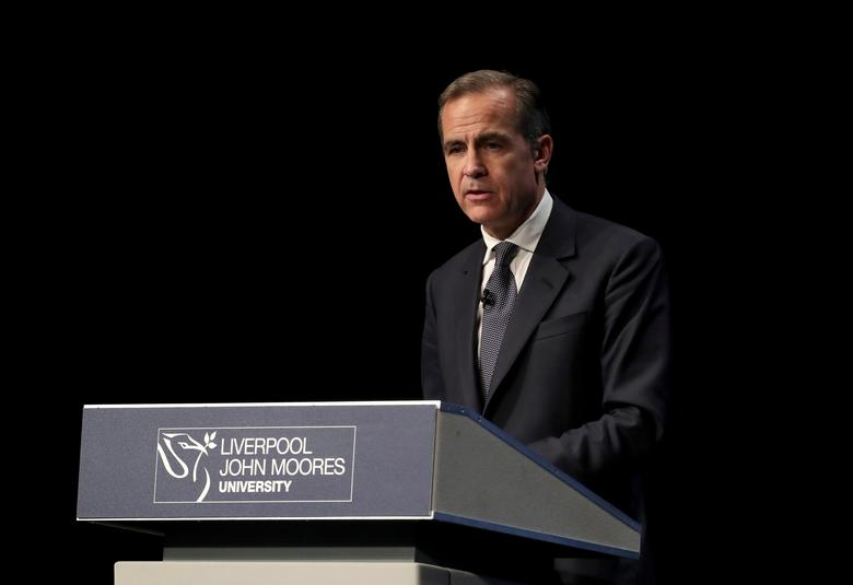 Bank of England Governor Mark Carney delivers the Liverpool John Moores University's Roscoe Lecture, at the BT Convention Centre in Liverpool, Britain December 5, 2016. REUTERS/Peter Byrne
