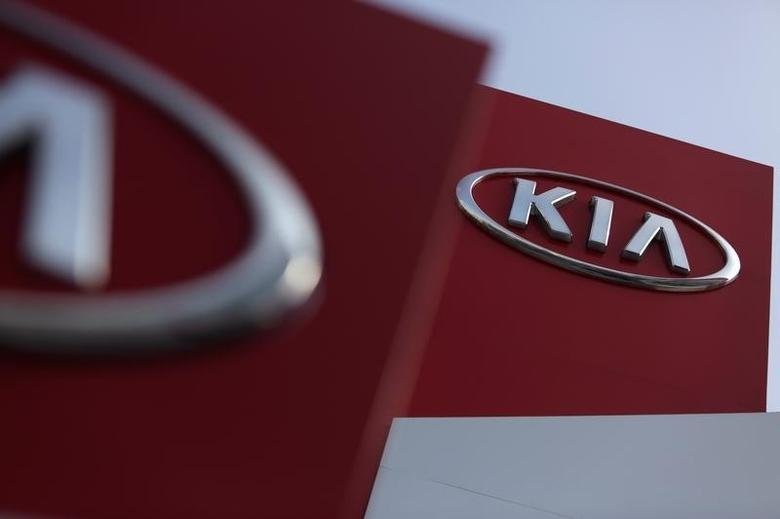 Signs of a KIA Motor car dealership are pictured in Monterrey, Mexico, August 23, 2016. REUTERS/Daniel Becerril
