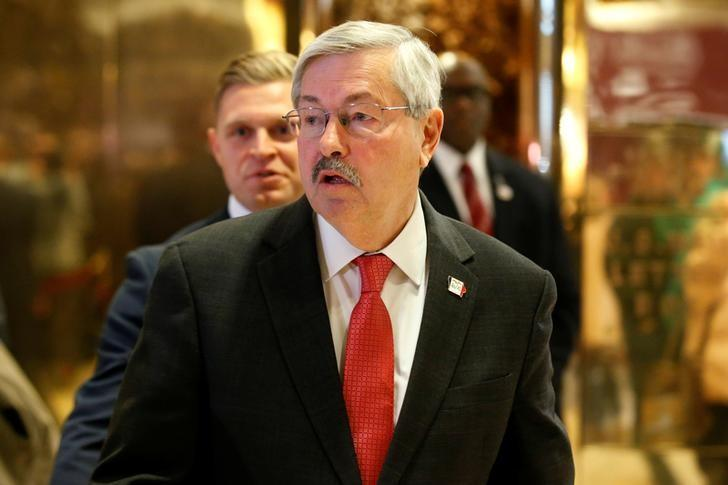 Governor of Iowa Terry Branstad exits after meeting with U.S. President-elect Donald Trump at Trump Tower in Manhattan, New York City, U.S., December 6, 2016. REUTERS/Brendan McDermid