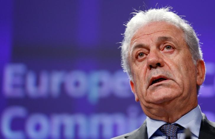 European Commissioner for Migration and Home Affairs Dimitris Avramopoulos addresses a news conference at the EU Commission headquarters in Brussels, Belgium, December 8, 2016.  REUTERS/Francois Lenoir