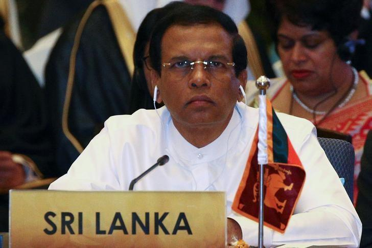 Sri Lanka's President Maithripala Sirisena attends a meeting during the Asia Cooperation Dialogue (ACD) summit at the Foreign Ministry in Bangkok, Thailand, October 10, 2016. REUTERS/Athit Perawongmetha/Files