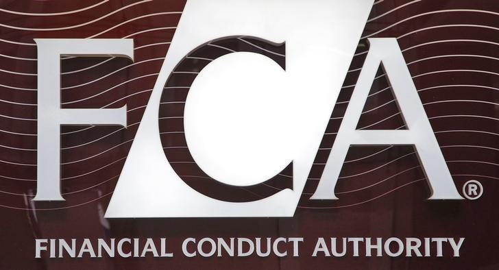 The logo of the new Financial Conduct Authority (FCA) is seen at the agency's headquarters in the Canary Wharf business district of London April 1, 2013.REUTERS/Chris Helgren