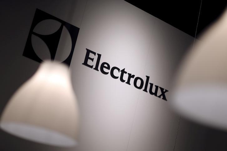 The Electrolux logo is seen during the IFA Electronics show in Berlin, Germany September 4, 2014.  REUTERS/Hannibal Hanschke/File Photo