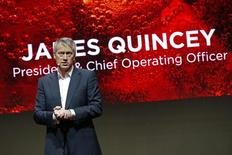 The Coca-Cola Company President and Chief Operating Officer James Quincey delivers a speech during a presentation in Paris, France, January 19, 2016. REUTERS/Benoit Tessier