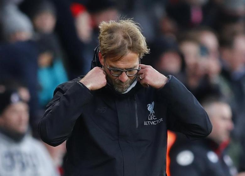Football Soccer Britain - AFC Bournemouth v Liverpool - Premier League - Vitality Stadium - 4/12/16 Liverpool manager Juergen Klopp looks dejected  Reuters / Eddie Keogh Livepic