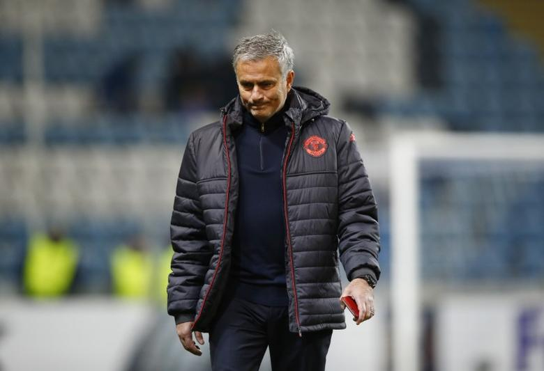 Manchester United manager Jose Mourinho on the pitch before the match. FC Zorya Luhansk v Manchester United - UEFA Europa League Group Stage - Group A - Chornomorets Stadium, Odessa, Ukraine - 8/12/16. Action Images via Reuters / Peter Cziborra Livepic
